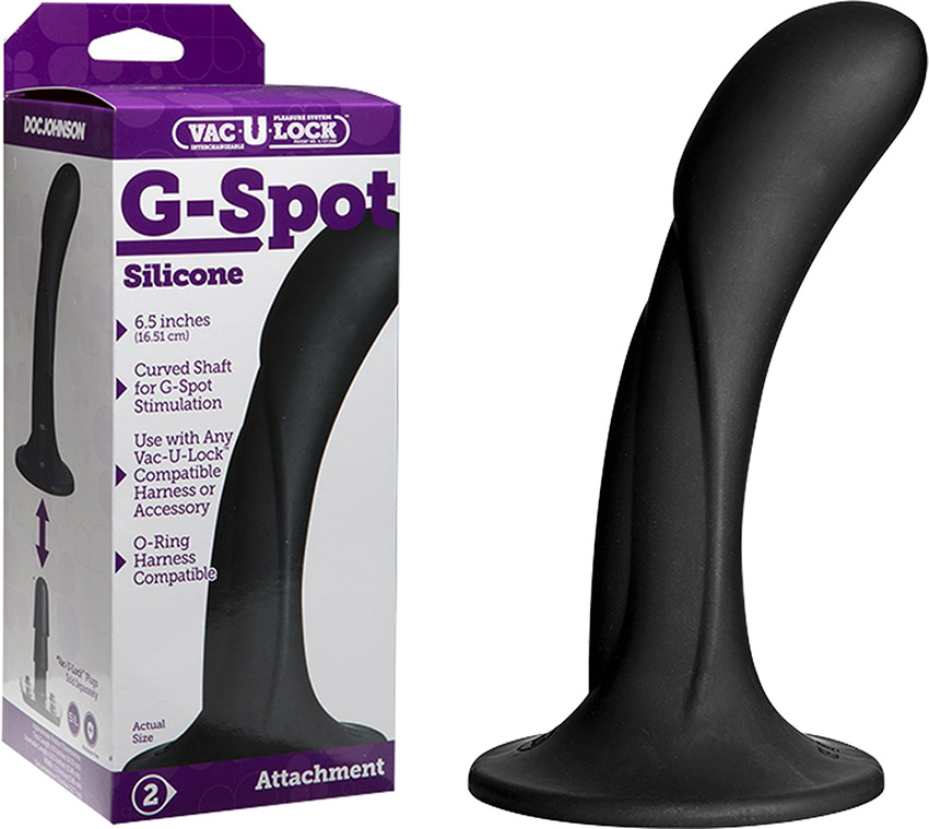 Doc Johnson Vac-U-Lock G-spot dildo - Black