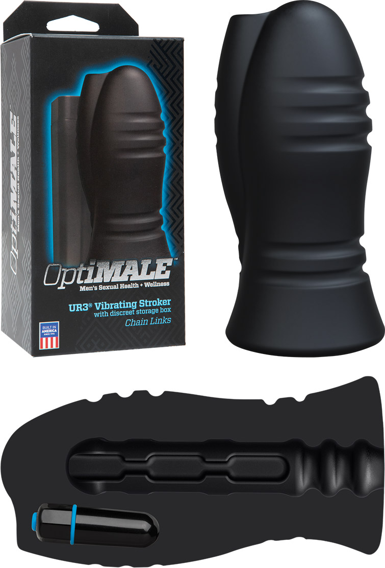 Doc Johnson OptiMALE UR3 Vibrating Stroker