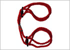 Manette per polsi & caviglie in canapa Kink Hogtied - Rosso