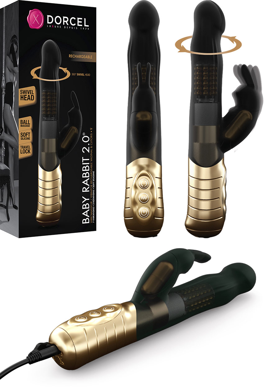 Dorcel Baby Rabbit 2.0 Vibrator - Black & gold