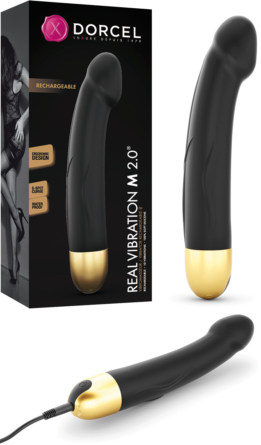 Dorcel Real Vibration M 2.0 Vibrator - Black & gold