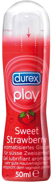 Durex Play Sweet Strawberry Lubricant Gel - 50 ml (water based)