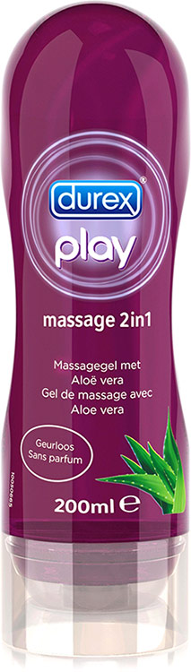 Durex Play Massage 2 in 1 Gel Aloe Vera - 200 ml (water based)
