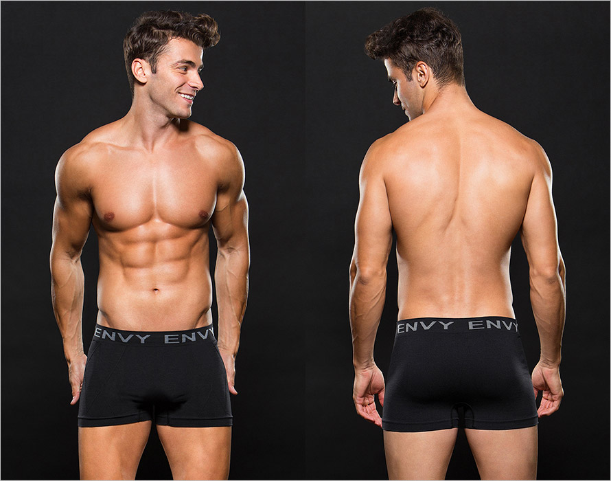 Envy Men's Trunk Boxers - Black (L/XL)