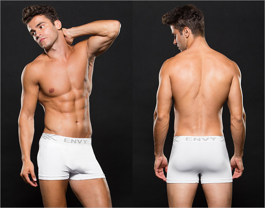 Envy Men's Trunk Boxers - White (L/XL)