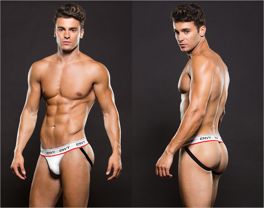 Envy Low Rise Mesh Jockstrap - White (L/XL)
