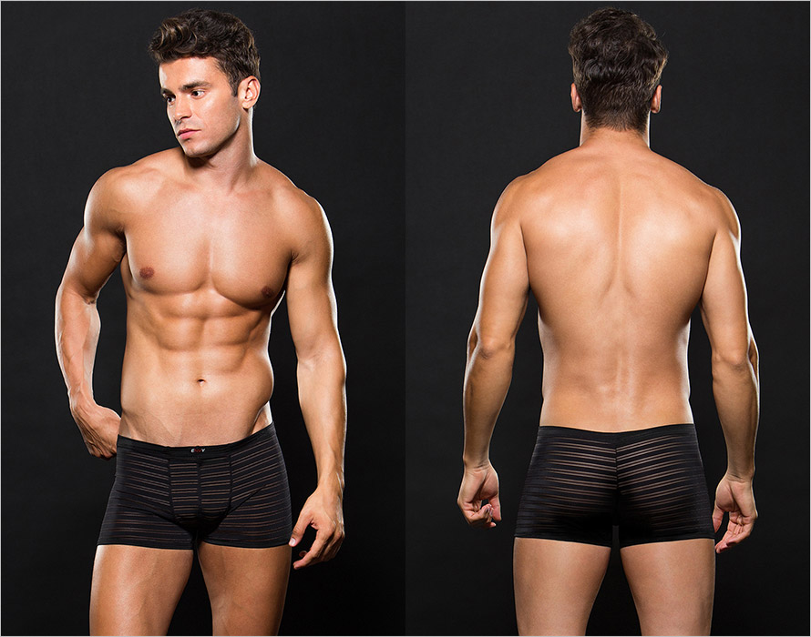 Envy Men's Striped Boxers - Black (L/XL)