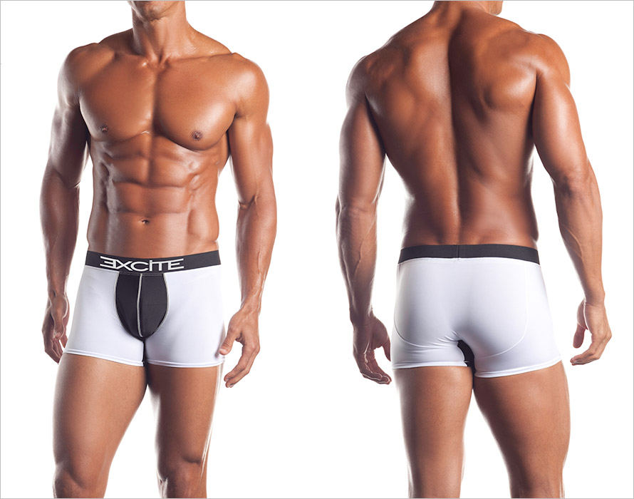 Excite Boxer Shorts - Classic Boxer Brief - White & black (XL)