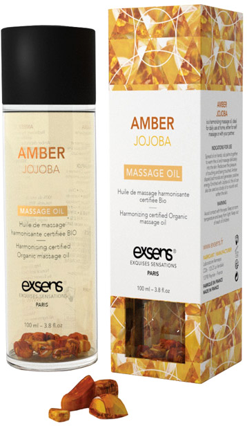 Exsens organic massage oil - Amber & Jojoba - 100 ml
