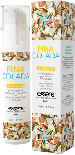 Exsens Warming & Gourmet Massage Oil - Pi�a Colada - 50 ml