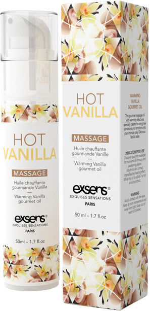 Exsens Warming & Gourmet Massage Oil - Vanilla - 50 ml
