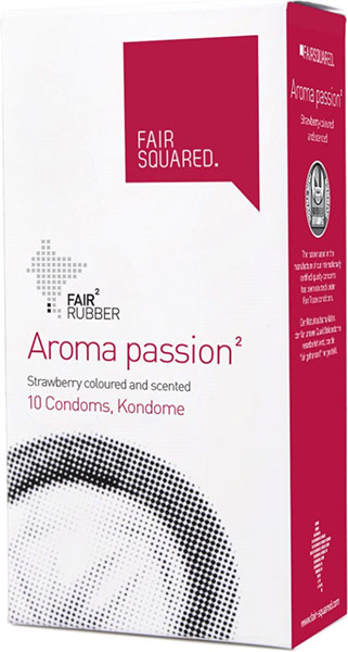 Fair Squared - Aroma passion Strawberry (10 Condoms)