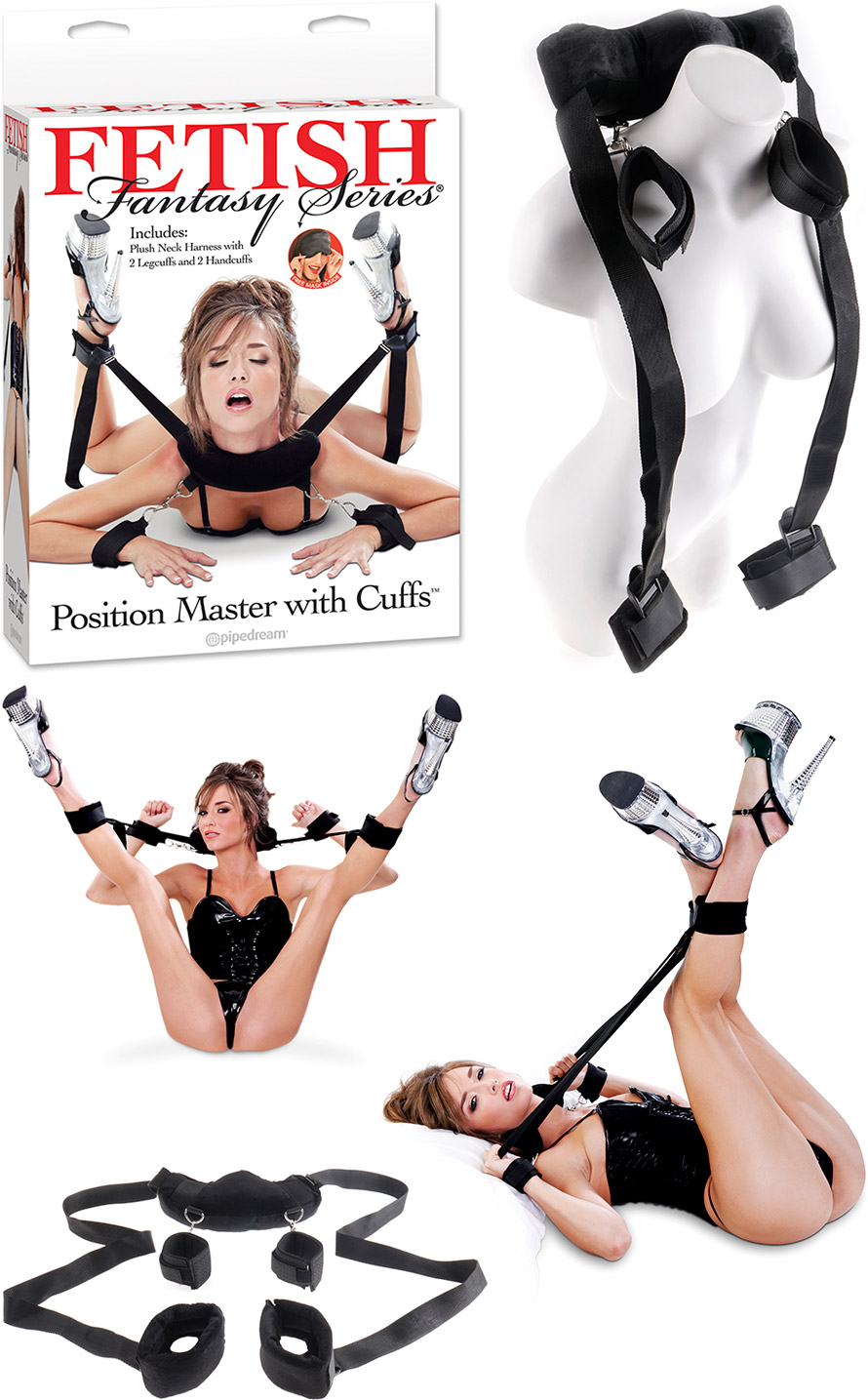 Fetish Fantasy Position Master bondage harness with handcuffs