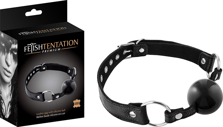 Fetish Tentation Premium ball gag in leather and silicone
