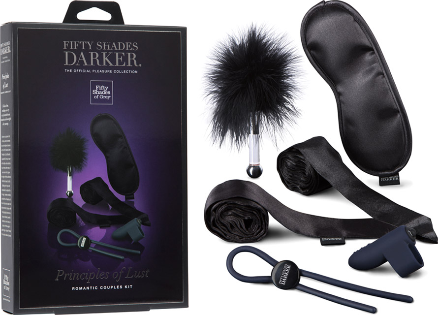 Set romantique pour couples Fifty Shades Darker Principles of Lust