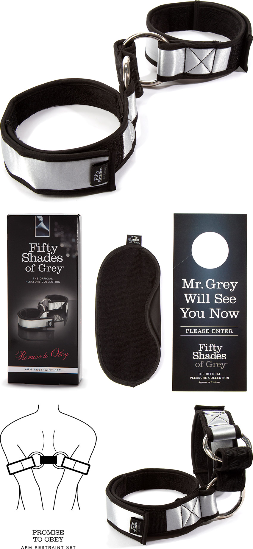 Attaches pour bras Fifty Shades of Grey Promise to Obey