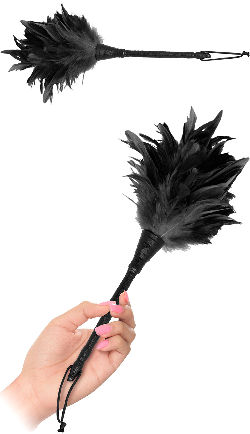 Frisky Duster Feather Tickler - Black