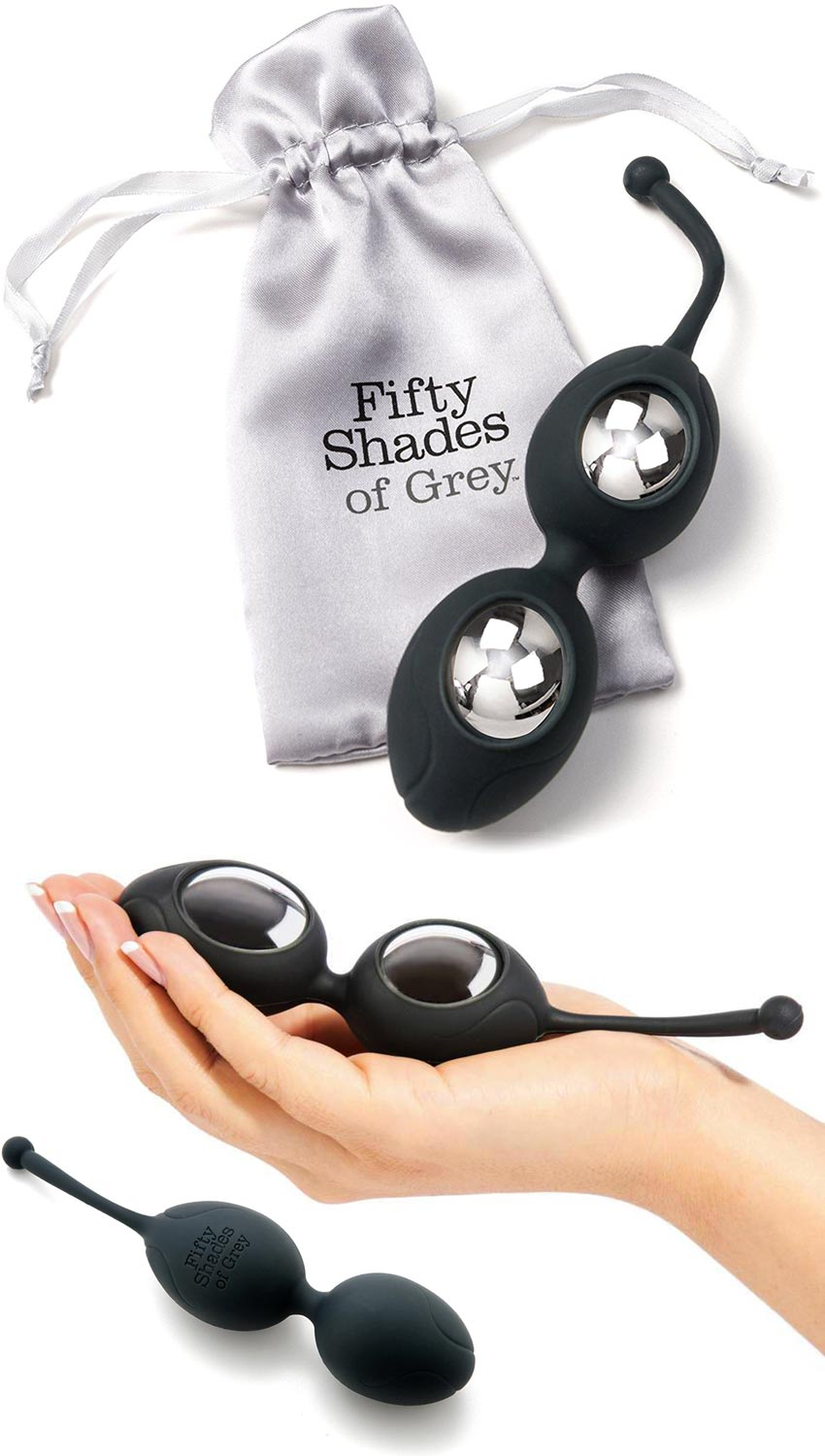 Fifty Shades of Grey - Delicious Pleasure Silicone Ben Wa Balls