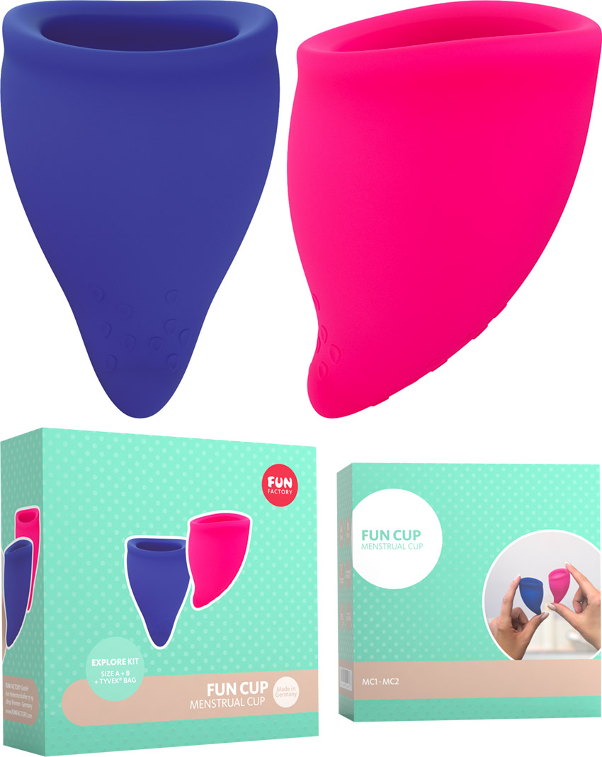 Fun Factory Fun Cup - Coupe menstruelle - Taille A+B (2 pces)