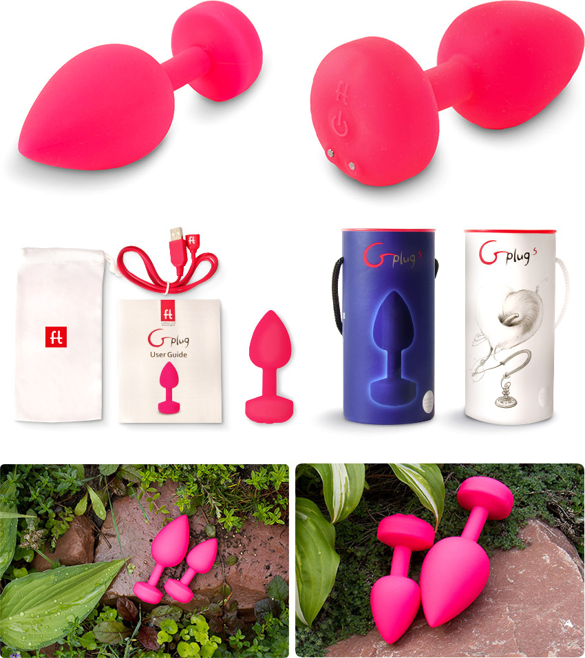 FunToys Gplug Large Vibrating Butt Plug - Pink