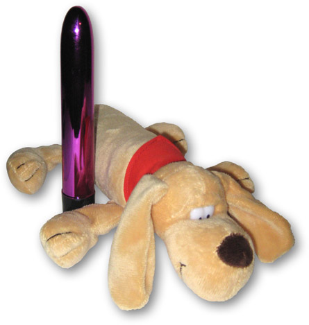 Hide a Vibe Plush Doggie with sextoy