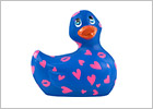 Canard Vibrant I Rub My Duckie 2.0 Romance - Bleu & rose (Mini)