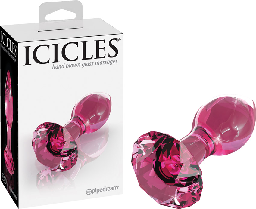 Icicles No. 79 Glass Butt Plug - Pink