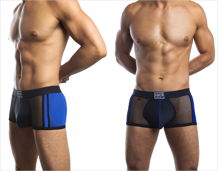 Jack Adams Metro Brief Boxer Shorts - Black & blue (L)