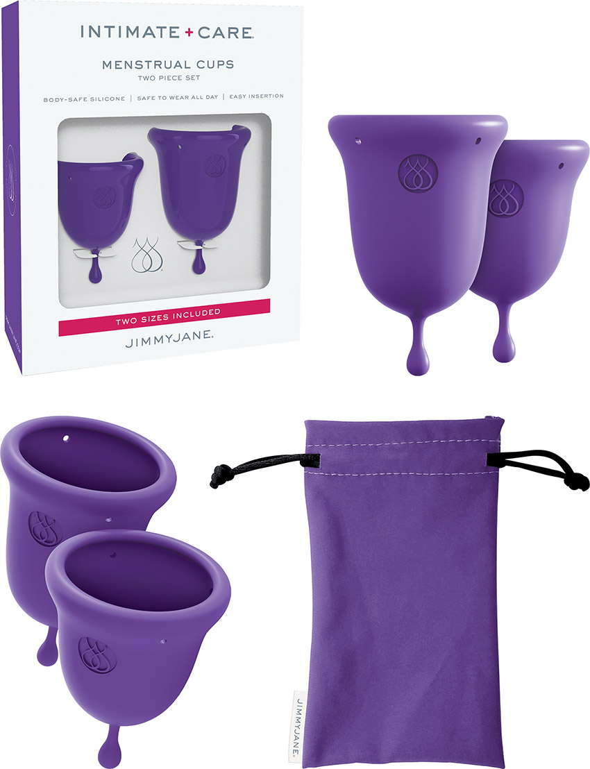 JimmyJane Intimate Care Menstruationstassen - 2 Stück (Violett)