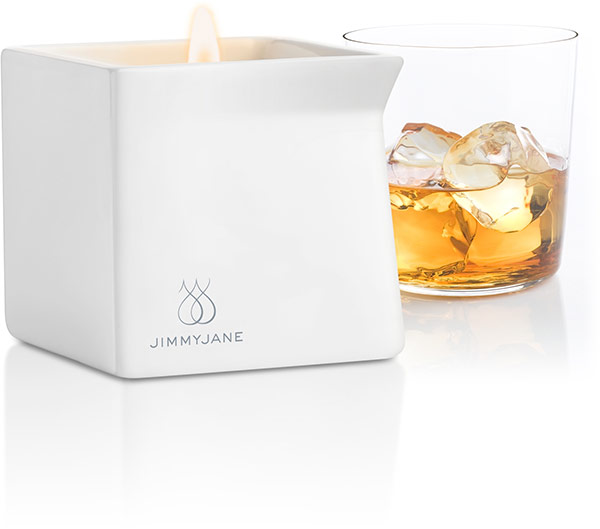 Jimmyjane Afterglow Massage Candle - Bourbon