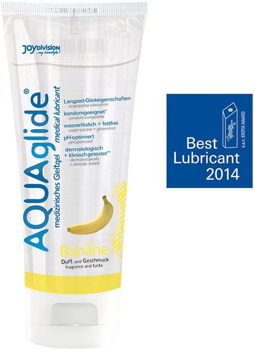 JoyDivision AQUAglide Lubricant - 100 ml - Banana (water based)