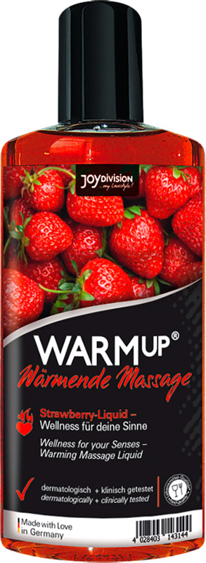JoyDivision WARMup warming massage oil - Strawberry