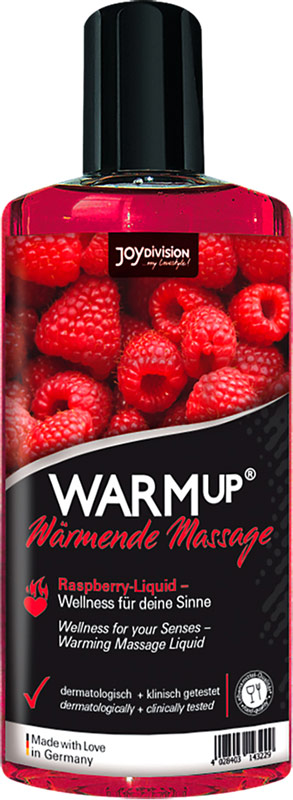JoyDivision WARMup warming massage oil - Raspberry