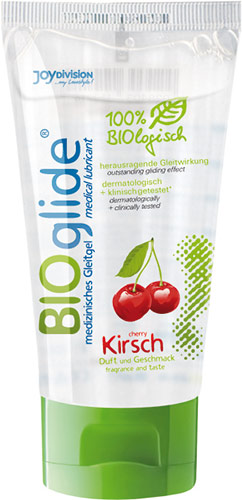 JoyDivision BIOglide Lubricant Gel - 80 ml - Cherry (water based)