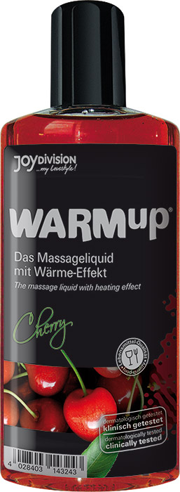 JoyDivision WARMup Hot Massage Oil - Cherry