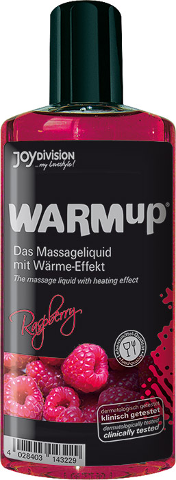 JoyDivision WARMup Hot Massage Oil - Raspberry