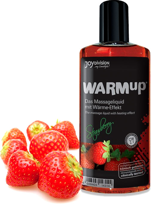 JoyDivision WARMup Hot Massage Oil - Strawberry
