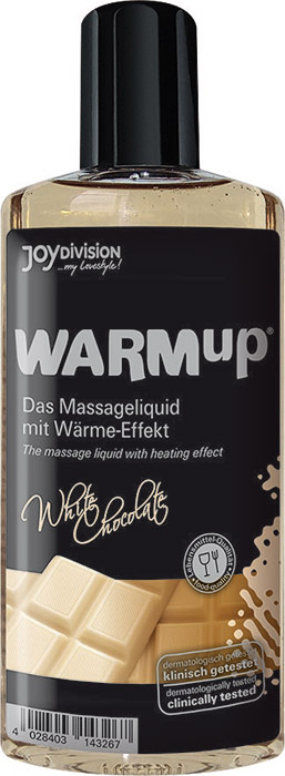 JoyDivision WARMup warming massage oil - White Chocolate