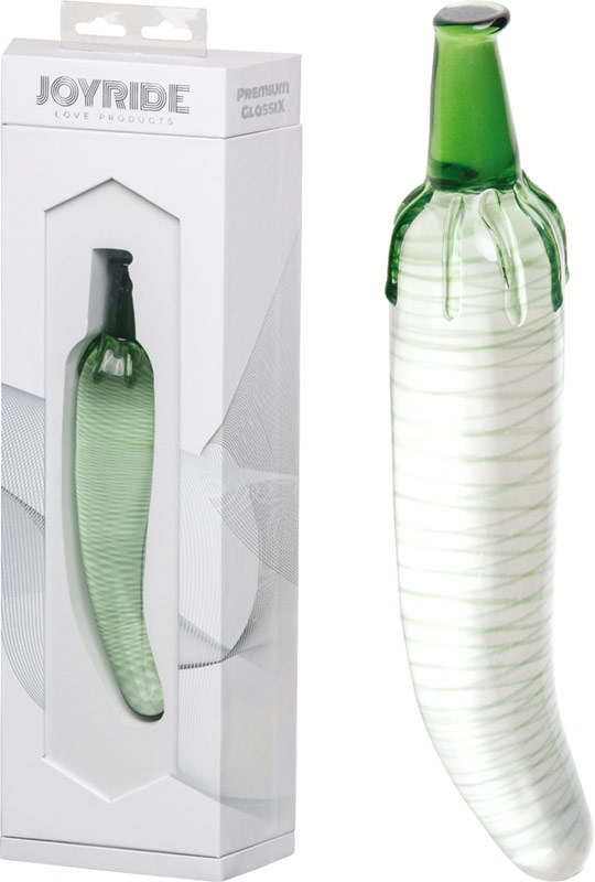 JoyRide Premium GlassiX 06 Glass dildo - Green Chilli Pepper