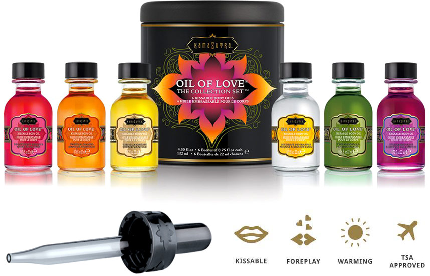 Kamasutra Oil of Love Collection - 6 oli stimolanti d'amore