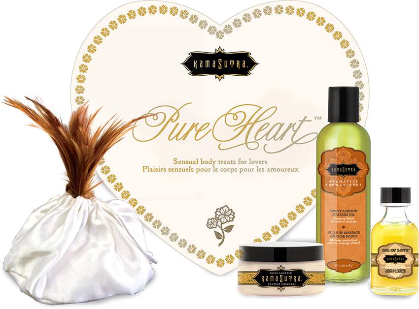 Kamasutra Pure Heart Sensual Couples Gift Set - Vanilla