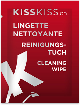 KissKiss.ch Cleaning Wipe - Sachet