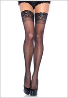 Leg Avenue 1022 stay-up stockings - Black (S/L)
