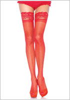 Leg Avenue 1022 stay-up stockings - Red (S/L)