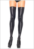 Leg Avenue wet look hold-ups 6901 - Black (M/L)
