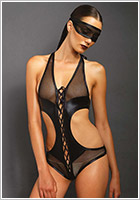 Leg Avenue KINK Bondage Body with mask - Black (M/L)