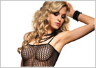 Leg Avenue Bodystocking Seamless Crochet - Noir (S/L)