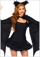 Leg Avenue Costume Cozy Bat Wing - Noir