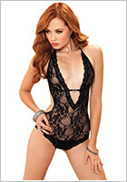 Leg Avenue Deep-V Body - Black (S/L)