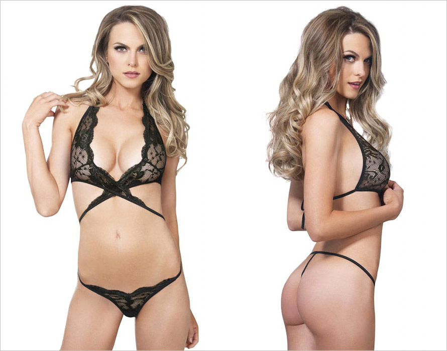 Leg Avenue Wrap Around Set - Black (M/L)